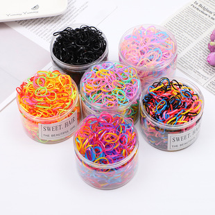 Japan and South Korea simple children's disposable rubber band hair rope colorful boxed small fresh student suit tie hair hair ring