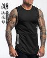 2020潮流新款跨境专供男士运动健身速干背心欧美修身透气无袖衫男