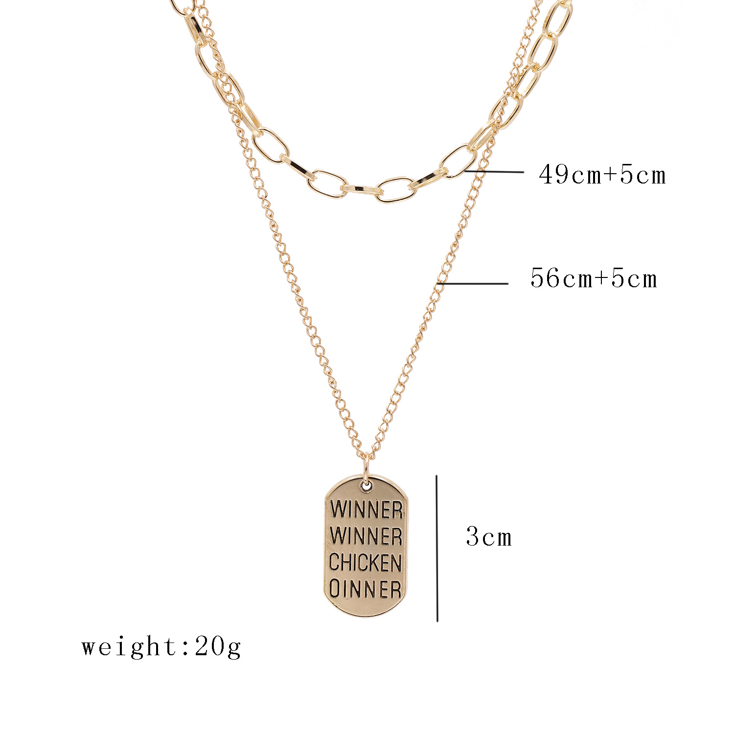 fashion jewelry street shooting fashion simple English square brand multi-layer suit necklace wholesale nihaojewelry NHJJ227678