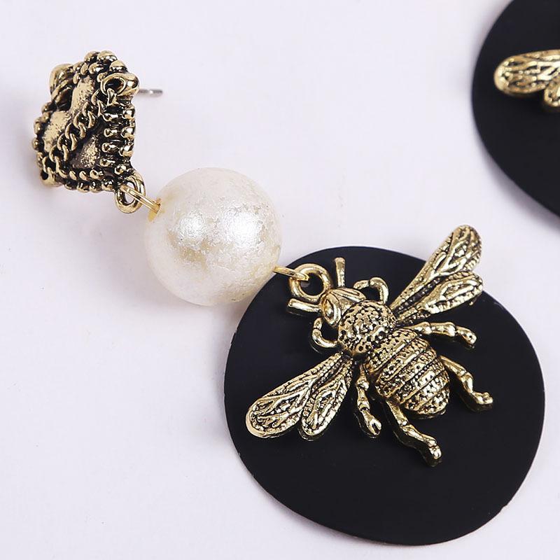 Fashion long geometric insect bee resin trend acrylic earrings jewelry NHLA267369