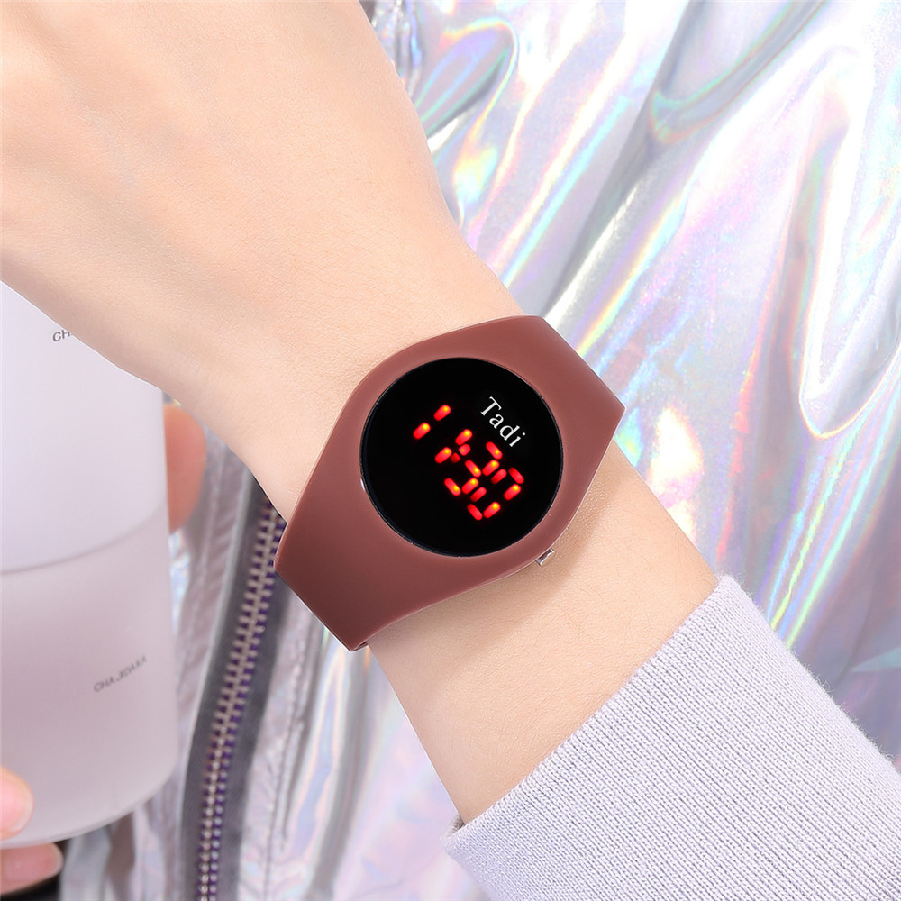 Fashion Silicone Electronic Watch LED Silicone Sports Watch Candy Color Children Watch NHSY197615