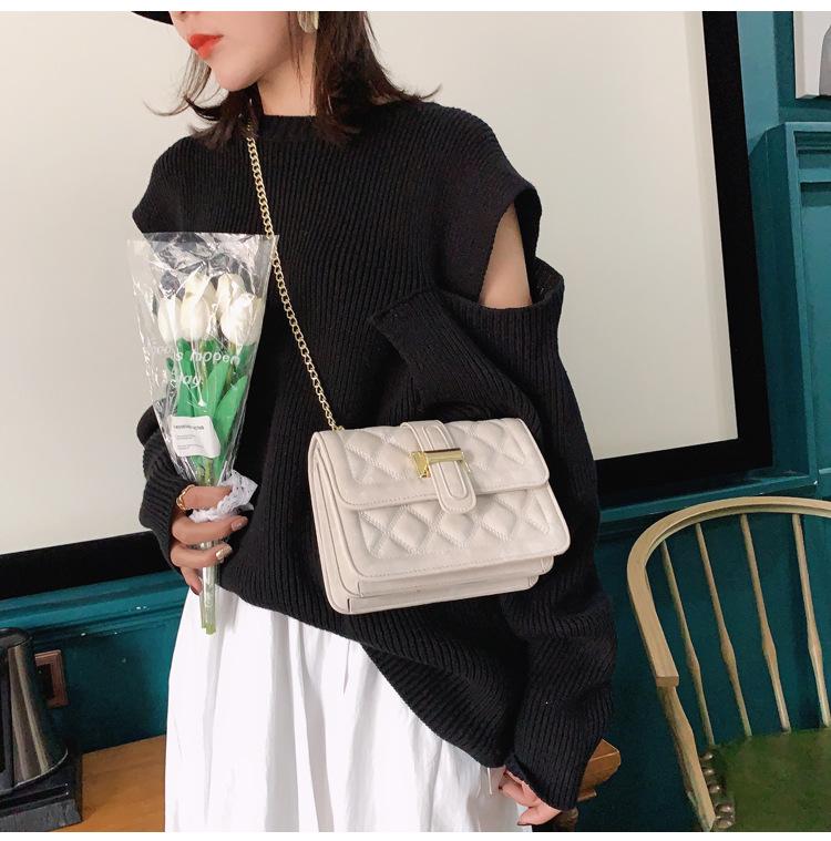 Fashion women autumn new rhombus one shoulder messenger small square bag NHJZ271793