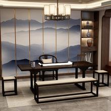 古典中式接待室做舊茶桌椅 禪意茶室洽談泡茶茶臺客廳功夫茶茶桌
