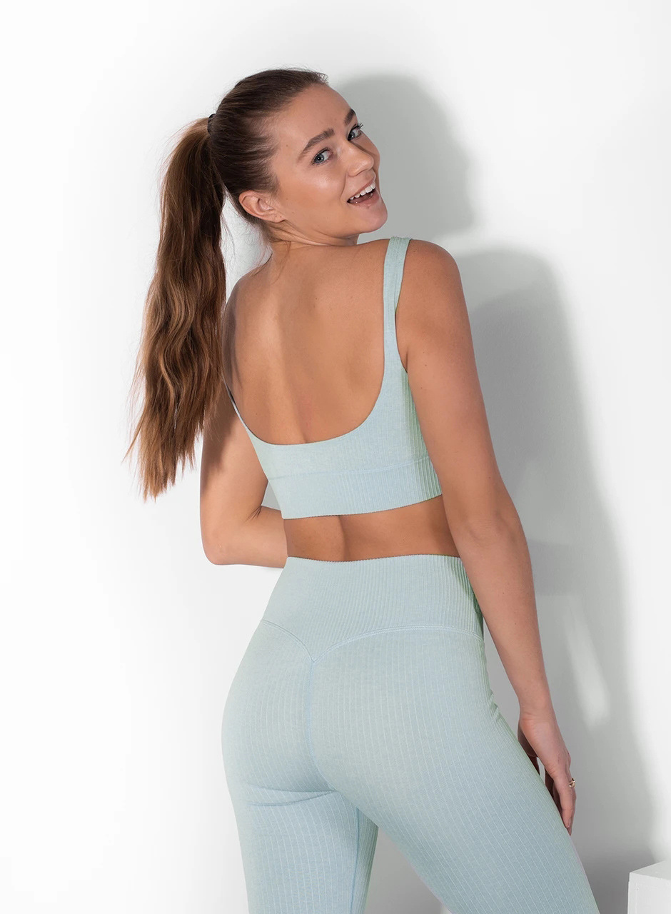seamless knitted quick-drying bra with leggings two-piece yoga suit nihaostyles clothing wholesale NSXER79792