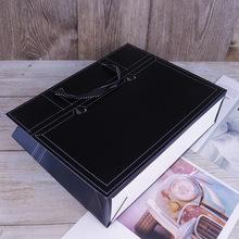 服裝店衣服購物袋定制logo專柜大牌高檔黑色手提紙袋韓版牛皮紙袋