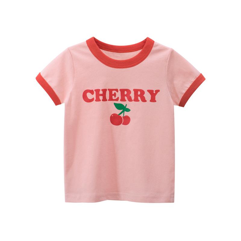 27home韩版童装2021夏季 女童短袖T恤 儿童服装厂家直销一件代发