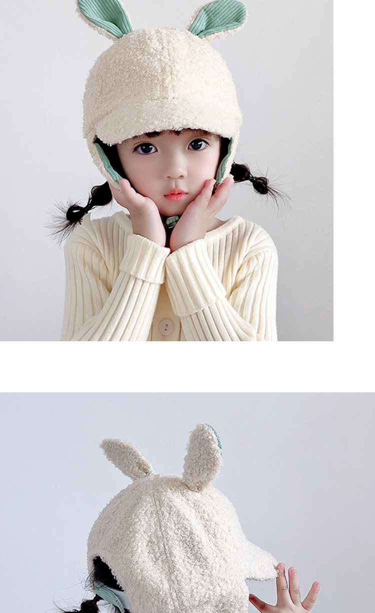 Children's ear caps  new lamb fur caps  NHXO270321