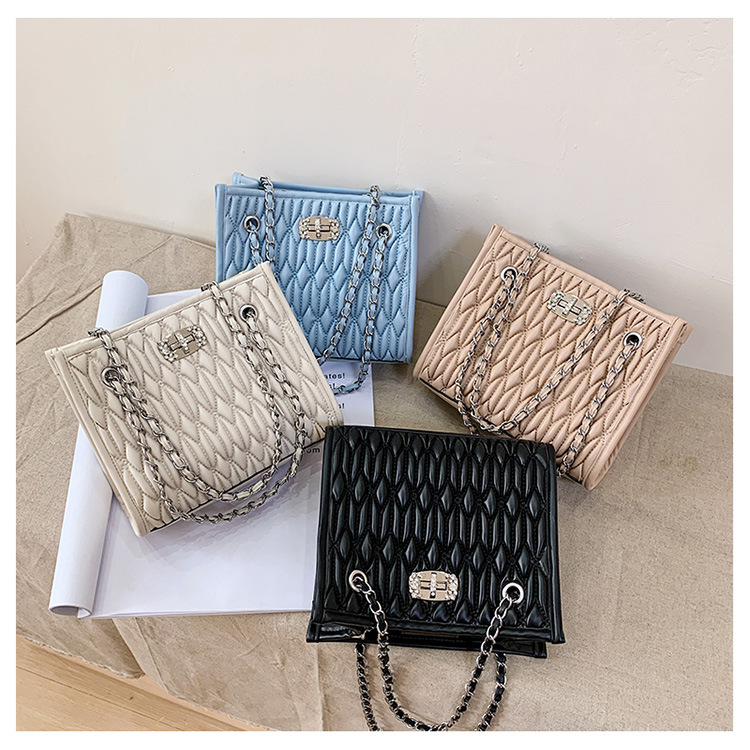 small summer new trendy fashion one-shoulder chain all-match messenger fold bag NHLH260285