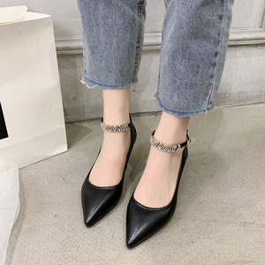 ស្បែកជើងកែង Leather Women High Heels Women Shoes PZ379136