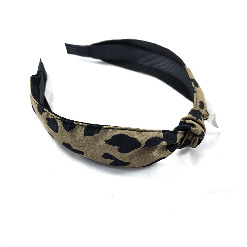 Korean fashion new fine-edged exquisite leopard knotted headband high-end bowknot pressure headband simple hair accessories ladies wholesale nihaojewelry NHUX221695