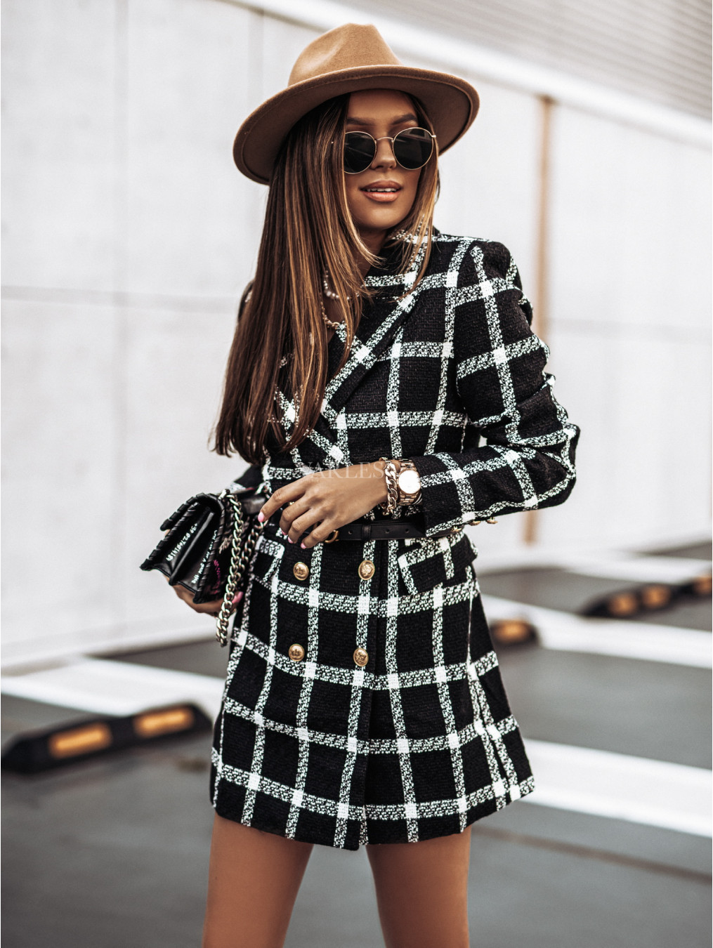 autumn and winter long-sleeved collar double-breasted woolen coat  NSYD4911
