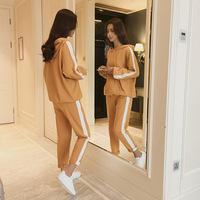 秋季卫衣女2020新款套装韩版学生休闲宽松运动服长裤长袖两件套冬