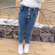 女童宝宝修身弹力小脚牛仔裤4小童幼儿韩版春秋长裤子3女孩高腰裤