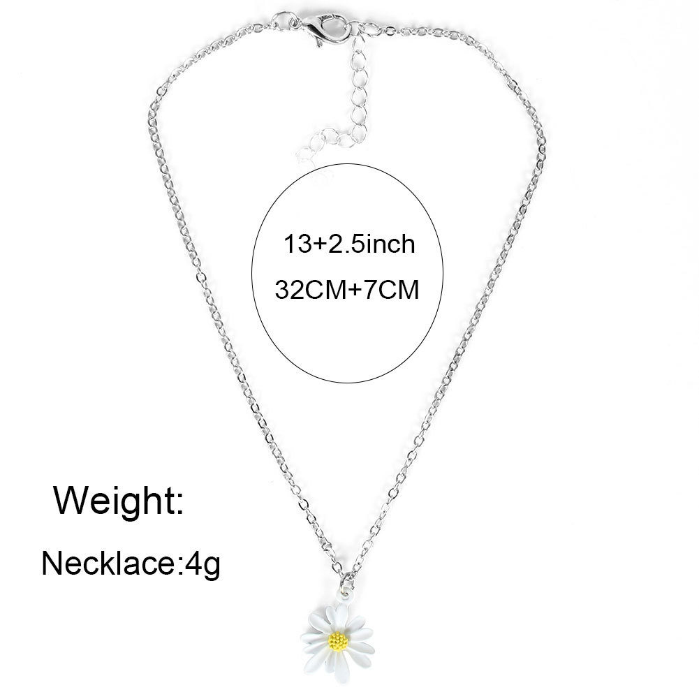 Fashion sun flower single layer alloy pendant necklace jewelry for women wholesale NHCT244590