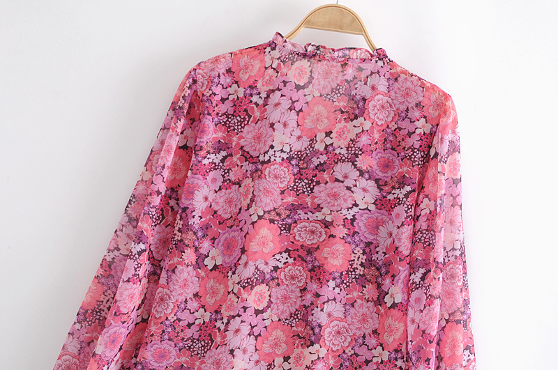 printed puff sleeve top shirt NSAM3075