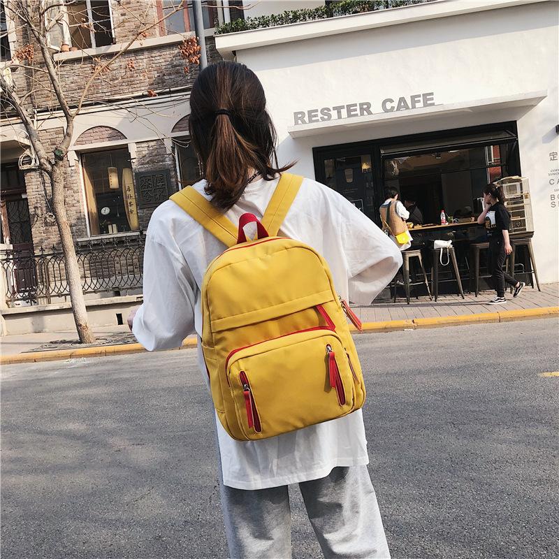 14寸电脑双肩包女新款背包韩版中学生初中生高中大学大容量书包