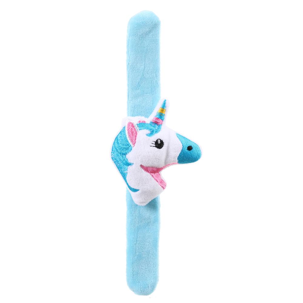 Fashion Light White Unicorn Plush Patting Ring Childrens Bracelet