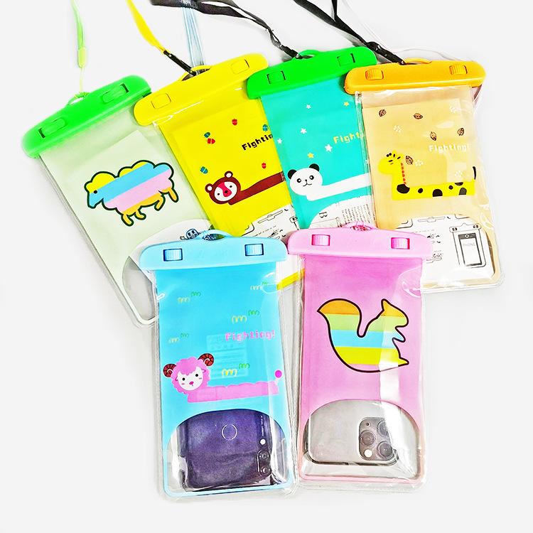 户外漂流手机防水袋卡通图案防水袋子手机套拍照触屏透明保护袋