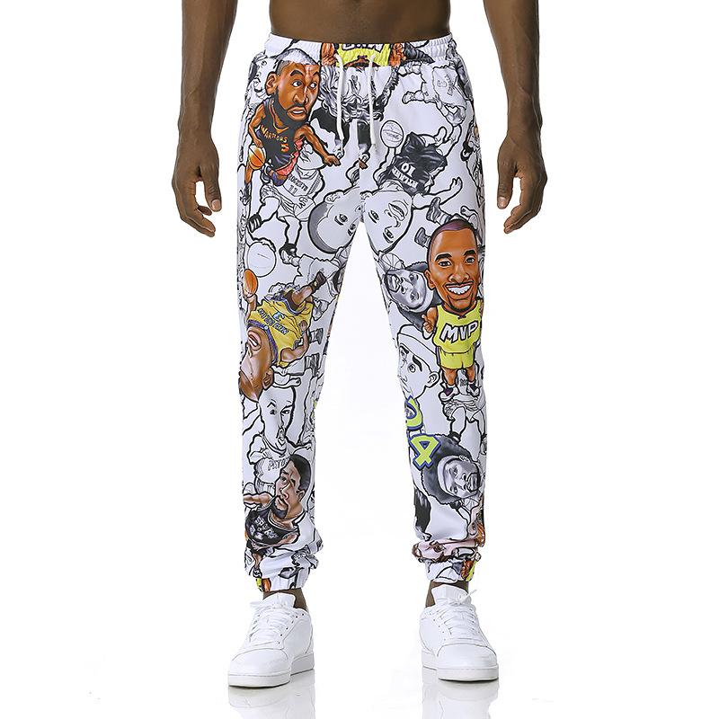 Men'S And Women'S 3D Fashion Printed Hip Hop Drawstring Leggings Jogging Pants Casual Sports Pants