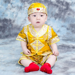 Baby Dragon Robe Little Emperor Boy Baby Emperor Prince's Dress Dragon Robe Summer Baby Children's Baby Tang Suit One Year Old