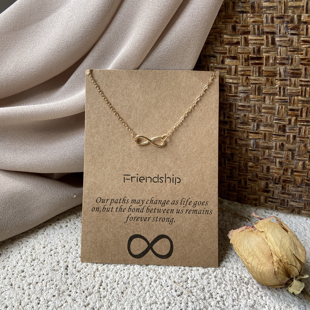 Simple Circle Retro Letter Butterfly Alloy Necklace NHPJ273831