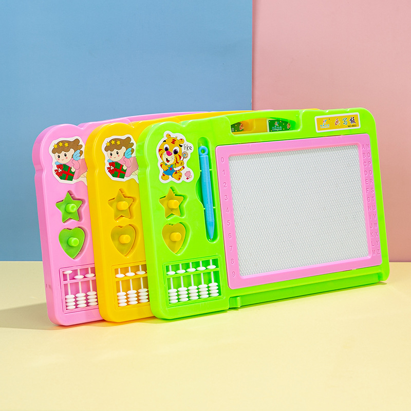 9812儿童彩色磁性画板 宝宝智写字画板文体办公用品批发