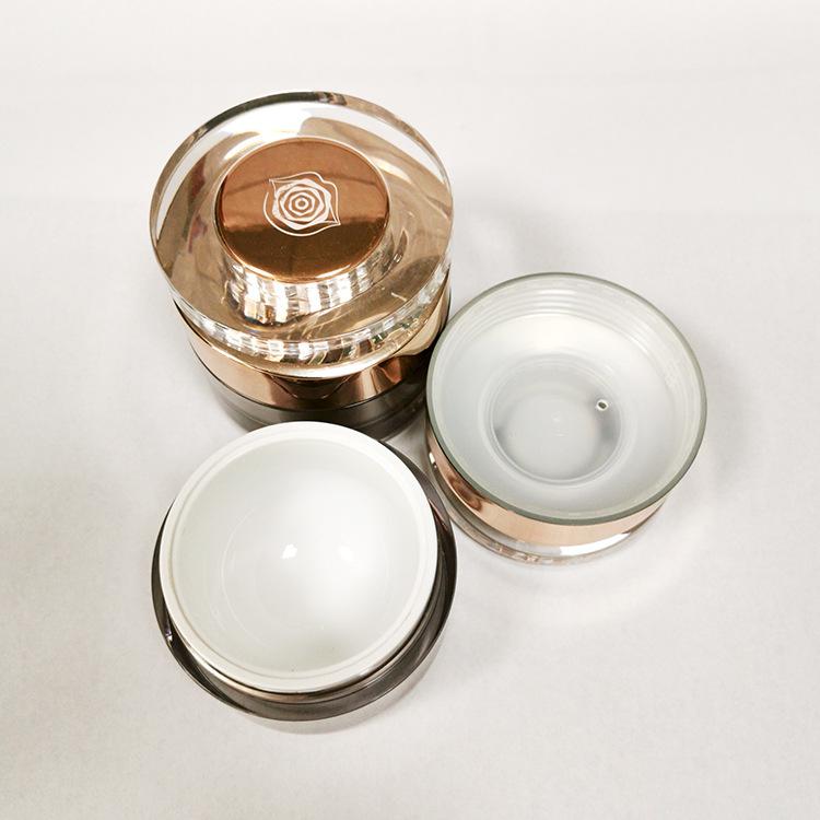 鉆石膏霜瓶 高檔亞克力面霜瓶50g 30g 化妝品瓶包材 可絲印噴鍍