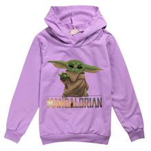 中大童装长袖卫衣 曼达洛人尤达宝宝 Mandalorian Baby Yoda 8334
