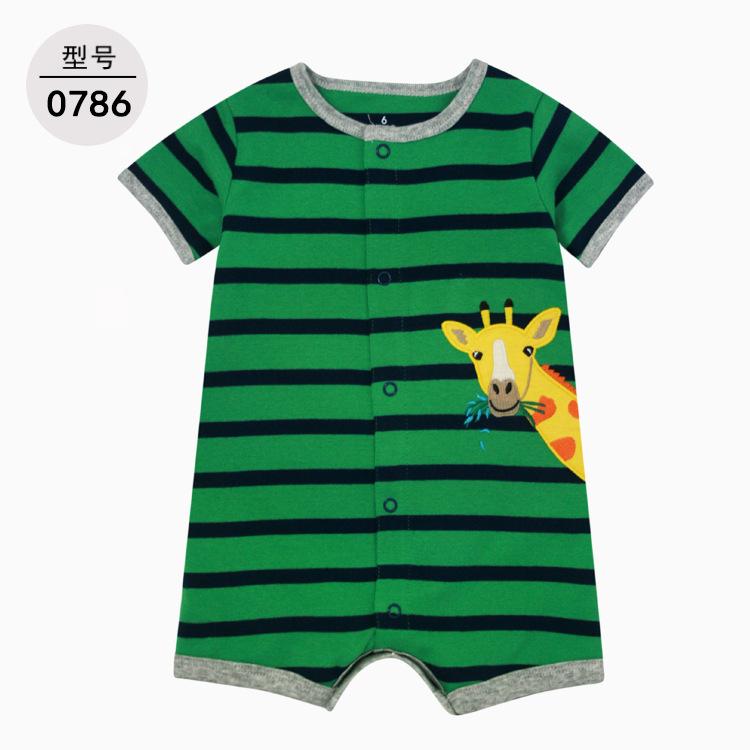 2020 ملابس الأطفال والرضع ملابس صيفية بأكمام قصيرة ملابس لحديثي الولادة رومبير إنز بذلة بذلة جيل واحد