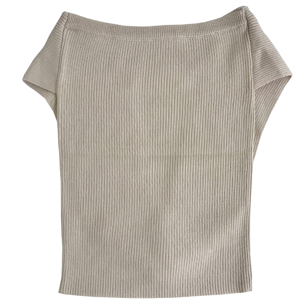 Spot Summer New Knitted Hanging Neck Cross Vest NSYX64016