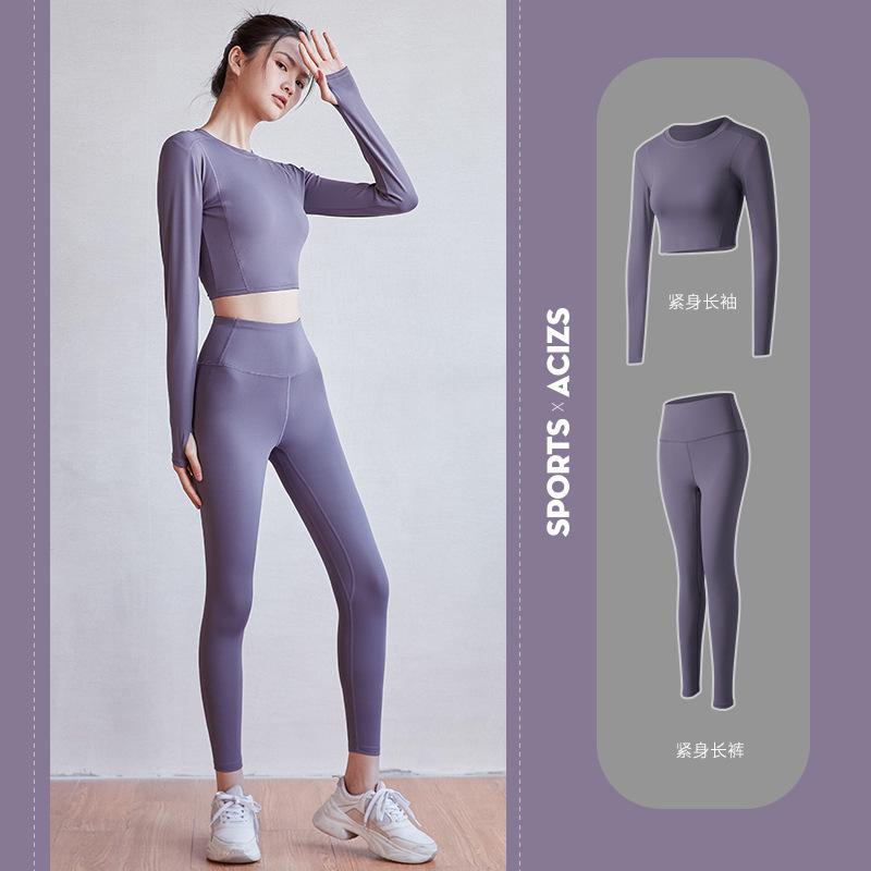 瑜伽服女夏天专业高端时尚显瘦性感跑步健身房初学者欧美运动套装
