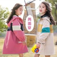 Чистая детская одежда знаменитостей, осеннее пальто для девочек, 2020, иностранный стиль, новая весенне-осенняя детская модная детская ветровка для девочек