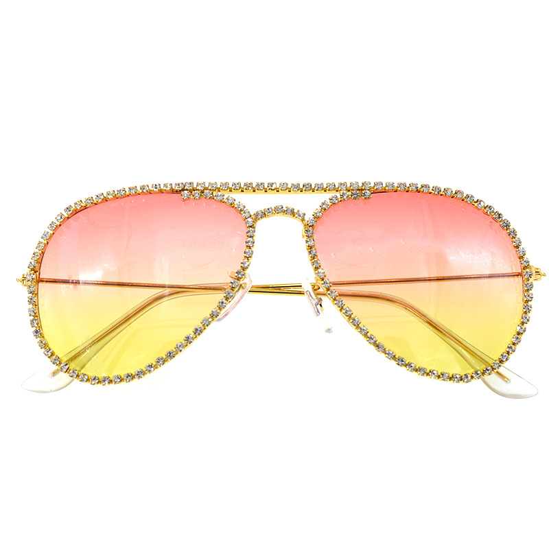 fashion  simple new elegant female tide  diamond avantgarde cat eye sunglasses personality cool sunglasses nihaojewelry wholesale NHNT216275