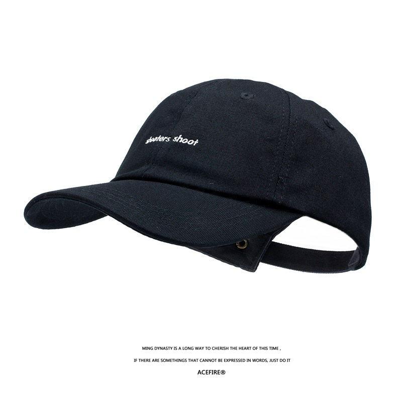 English small letter embroidery summer new caps Korean men and women fashion street Japanese soft top baseball hats
