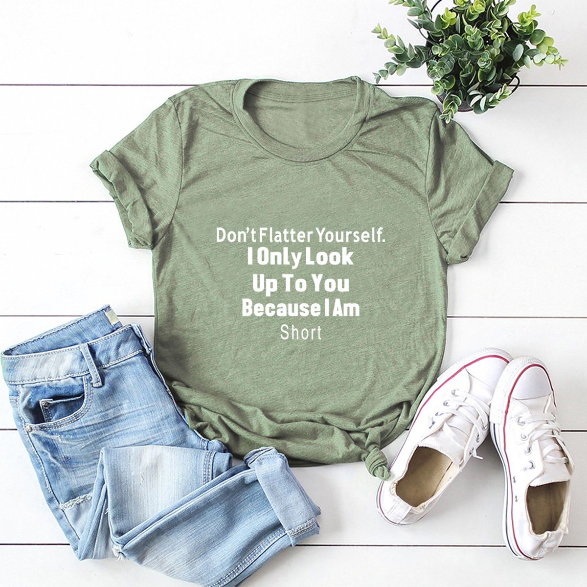 hot letter printing comfortable casual short-sleeved T-shirt NSSN329