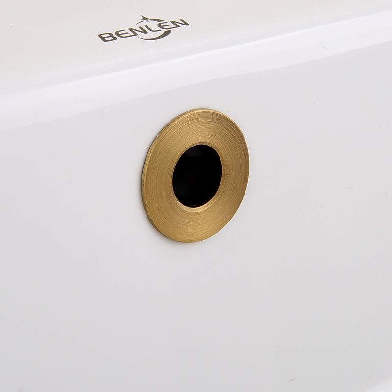 口盖装饰水孔盆复古盖溢水色台面盆盖环配件溢面盆洗脸盆全铜仿古
