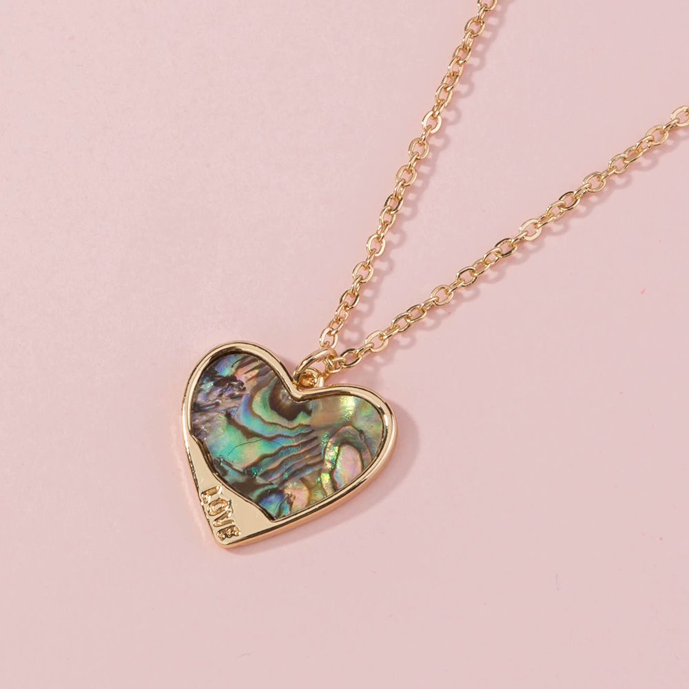 fashion design natural abalone shell geometric alloy pendant for women jewelry NHAN243156