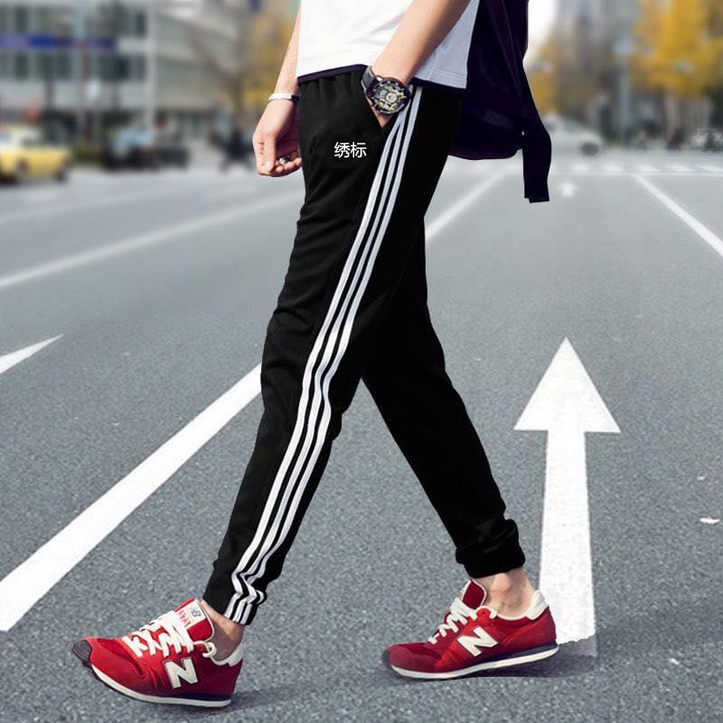 Spring sports pants men's and women's thin trousers three-bar closed feet and feet trousers CW1275 6691 7433