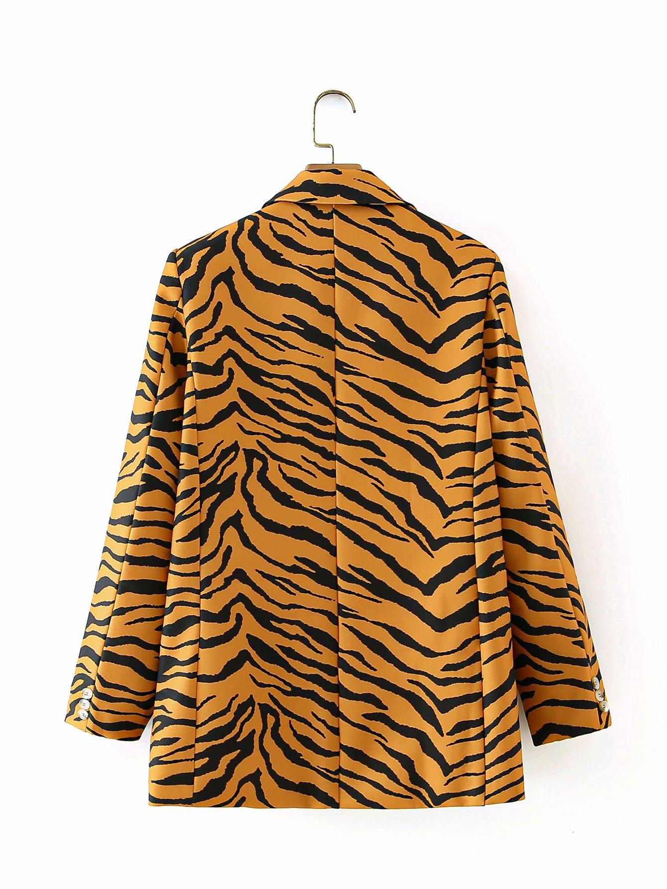 wholesale fashion women's new tiger pattern one button suit jacket  NHAM255660