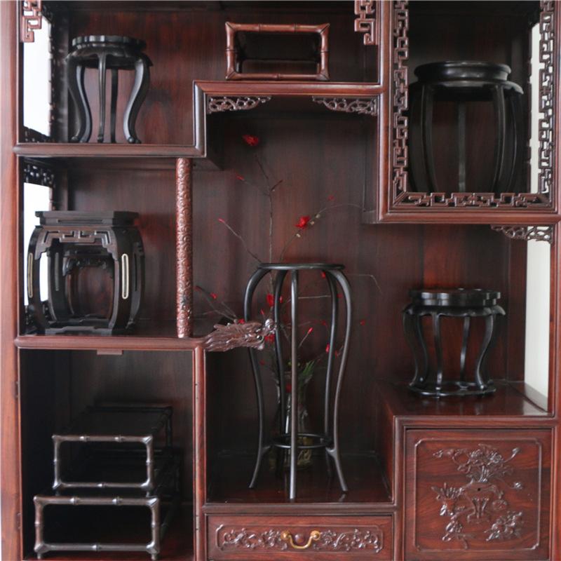 红木紫光檀底座花几花瓶玉器黑檀文玩茶具摆件底座微型盆景花架