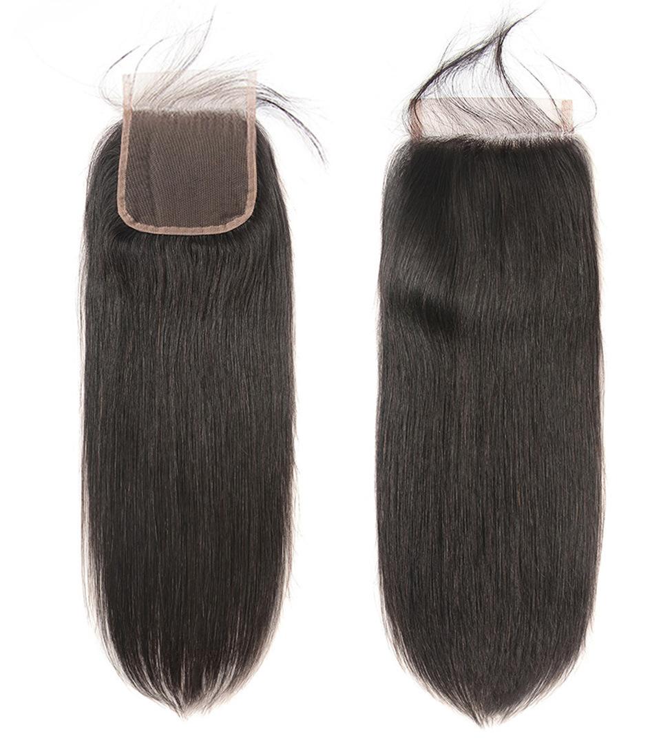 Peruvian Straight Human Hair Lace Fronta...
