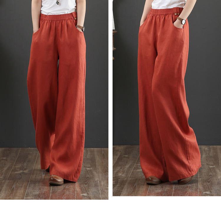 autumn new Korean wide-leg casual pants women's straight loose drape slim long pants NSYF3630