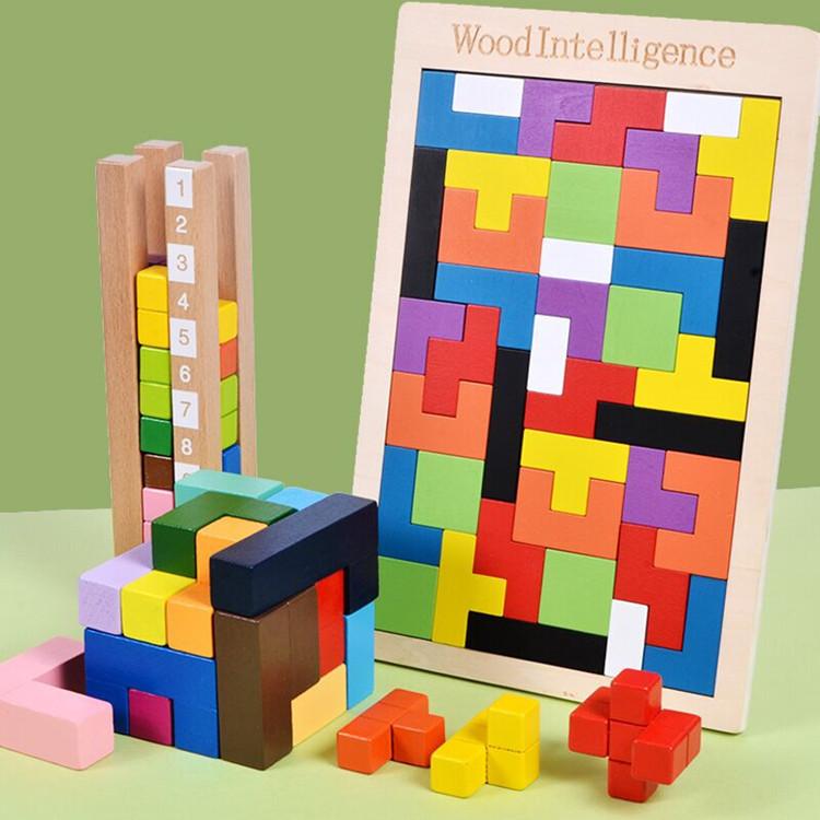 磁性俄罗斯方块积木拼板方块之迷儿童益智俄罗斯拼图玩具一件代发