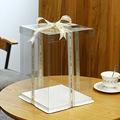 批发透明生日蛋糕盒4/6/8/10/12/14寸单双层三层加高长方形包装盒
