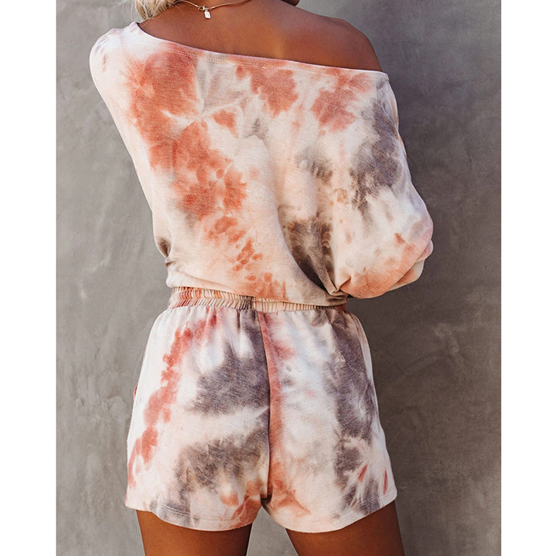hot style women's summer loose printing home wear casual suit NSKX5973