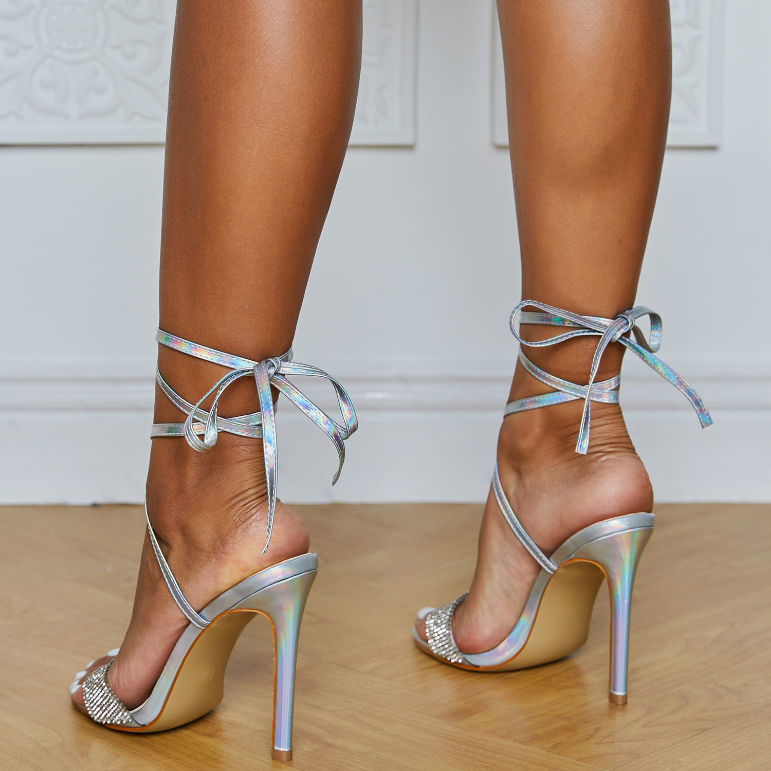 Spring fashion stiletto high-heeled cross-strap high heels sexy rhinestone sandals women's shoes large size NHEH206288