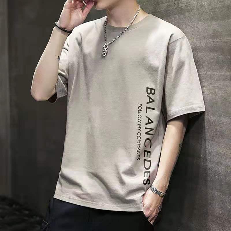 男士短袖t恤2020新款夏季潮流韩版宽松打底衫衣服体恤大码青少年