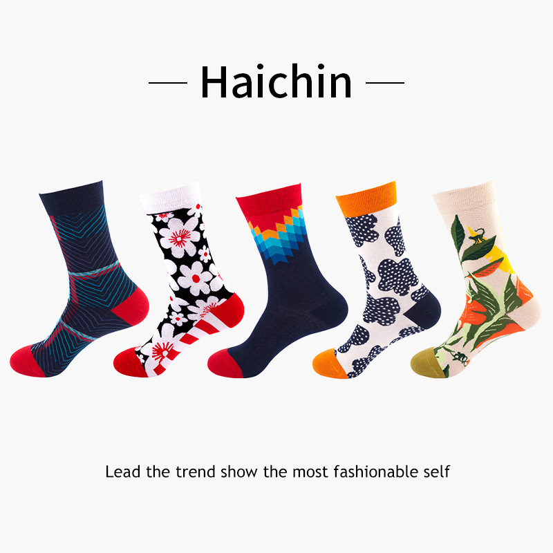 Unisex/Men and women can be combined in European and American composite colors socks