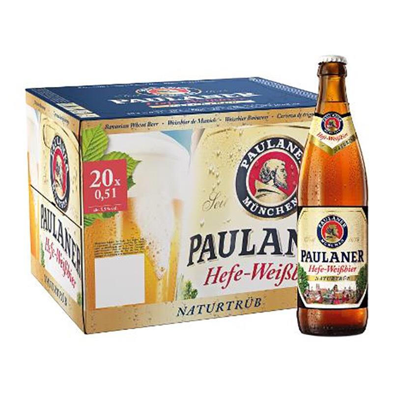 保拉纳PAULANER柏龙小麦白啤酒500ml*20瓶装整箱