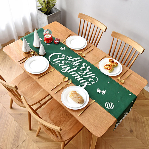 Tablecloth table cloth table cover Table, flag and table art of Christmas in northern Europe